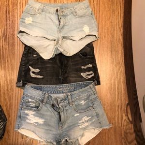 Denim shorts size 2